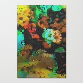 Flower and Dragonfly Canvas Print