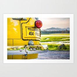 Yellowstone National Park Landscape Bus Bumper Vintage Art Print