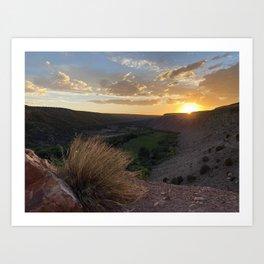Canyon View Art Print
