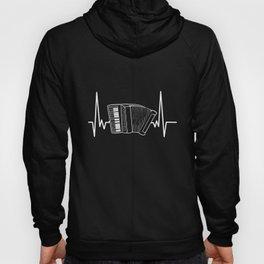 Accordion Heartbeat Music Player Musician Gift Hoody