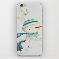 Snowman and friend iPhone & iPod Skin