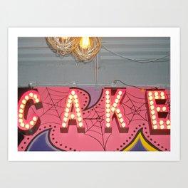Cake ~ pop carnival signage Art Print