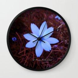 Shambhala Flower - White on Red 1 Wall Clock