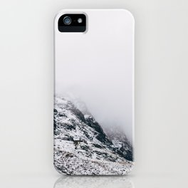 Fleetwith Pike in cloud and snow. Honister Pass, Cumbria, UK. iPhone Case
