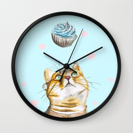 Cat Lover Cake Wall Clock