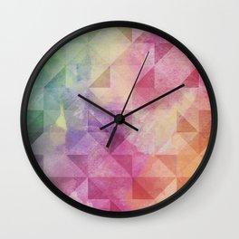 Triangles Pattern Wall Clock