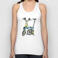 brompton Tank Tops featuring My brompton standing up by Swasky