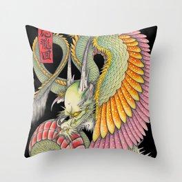 応龍図 WING DRAGON Throw Pillow