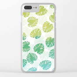 Monstera Madness Clear iPhone Case