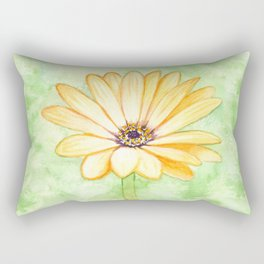 Yellow gerbera flower Rectangular Pillow