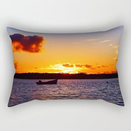 Anchored to Buoy at Dusk Rectangular Pillow