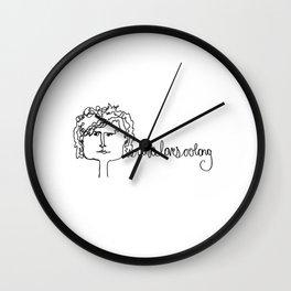 oona loves oolong Wall Clock