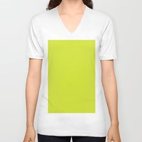 pear V-neck T-shirts featuring Pear by List of colors
