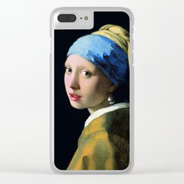 Jan Vermeer Girl With A Pearl Earring Baroque Art Clear iPhone Case