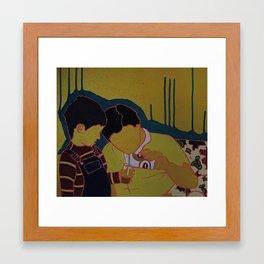 Just a sip Framed Art Print