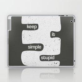 Kiss - Keep it simple stupid - Black and White Laptop & iPad Skin