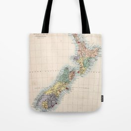 Vintage Map of New Zealand (1865) Tote Bag
