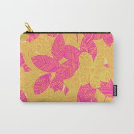 Geo Floral Carry-All Pouch