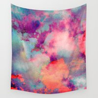 tchmo Wall Tapestries featuring Untitled 20110625p (Cloudscape) by tchmo