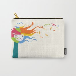 Birds Color Carry-All Pouch