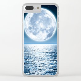 Giant Moon Clear iPhone Case