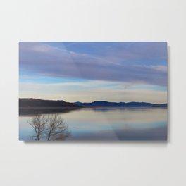 Blue Lake Reflection Metal Print