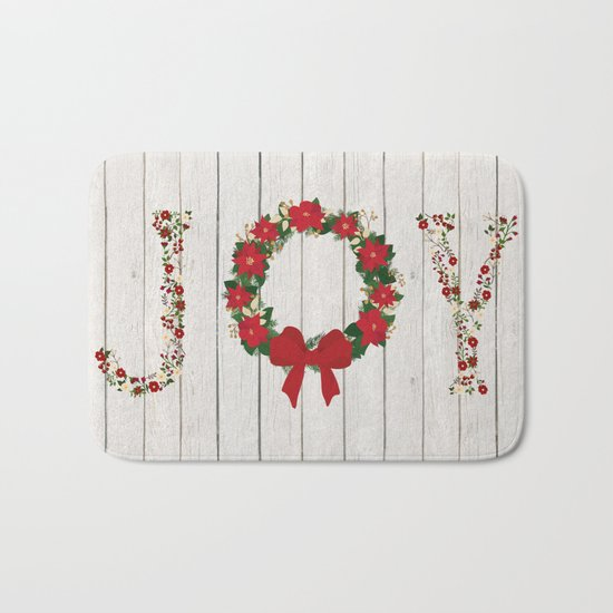 Joy Wreath #2 Bath Mat