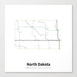 Highways of the USA – North Dakota Canvas Print