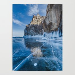 Blue Ice of the Lake Baikal Poster
