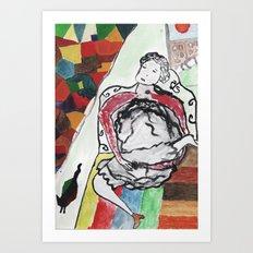 fille se masturbe Art Print