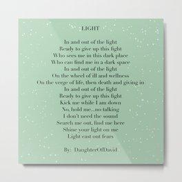 LIGHT (poem) Metal Print