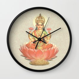 Lakshmi, Goddess of Love (Coral) Wall Clock