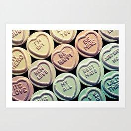 Lovehearts Art Print