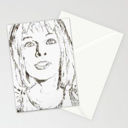 Leeloo Fifth Element sketch- Milla Jovovich Stationery Cards