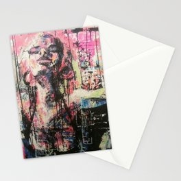 Drip Abstract Selfie Girl Stationery Cards