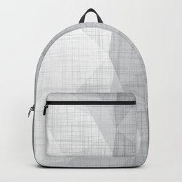 In The Flow - Geometric Minimalist Grey Backpack