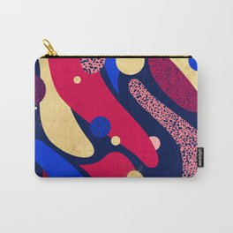 Psychedelic terrazzo galaxy blue night gold red Carry-All Pouch