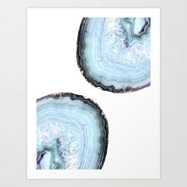 icy blue agate Art Print