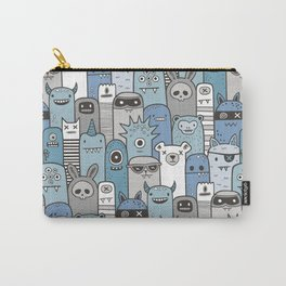 Monsters & Friends in Blue Carry-All Pouch