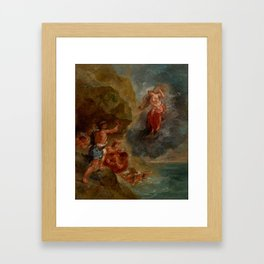 """Eugène Delacroix """"Winter from a series of the Four Seasons (Juno and Aeolus)"""" Framed Art Print"""
