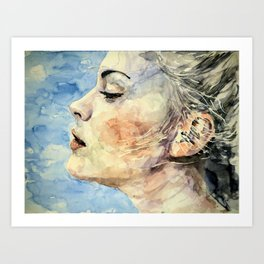Swedish Girl Profile Art Print