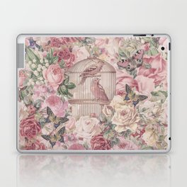 Romantic Flower Pattern And Birdcage Laptop & iPad Skin