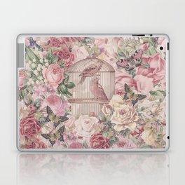 Romantic Flower Pattern And Birdcage Laptop & iPad Skin