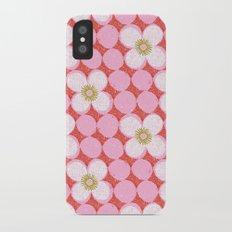 dotty flowers iPhone X Slim Case