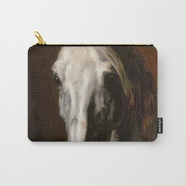 The head of white horse - Theodore Gericault Carry-All Pouch