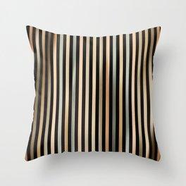 Mid Century Stripes Throw Pillow