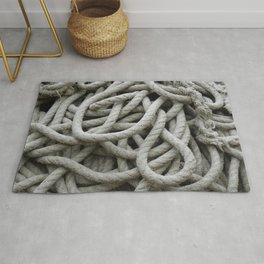 a skein of fishing rope    Rug