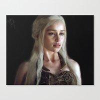khaleesi Canvas Prints featuring Stormborn by AudraV