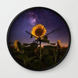 Galaxy Flowers Wall Clock