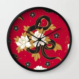 Sacred Snakes Wall Clock